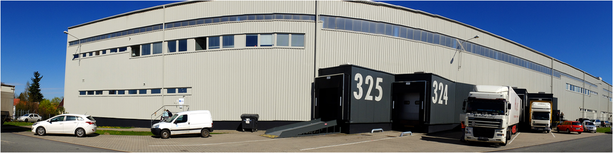 We have 8,000 m2 on two premises, near Prague and Václav Havel Airport